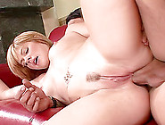 Tattooed Blonde With Natural Tits Having Her Anal Hammered Doggy