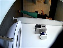 Girl Pooping With A Loud Fart Hidden Toilet
