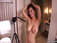 Busty Red Hot Milf Tries Porn