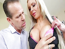 Beautiful Blonde Milf Nina Elle Sells A House With Her Oral Acro