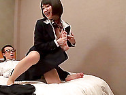 Japanese Milf Lets A Man Play With Her Tits And Jumps On His Dic