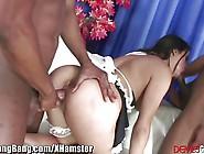 Latina Maid's Double Anal Gangbang