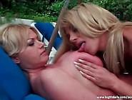 Amazing Big Boobed Milfs Having Lesbian Fun