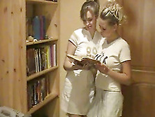 Blonde Amber Is Playing With Her Sexy Sister