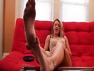 Blonde Girl Wants Her Dirty Feet Worshipped