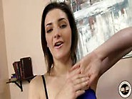 Tegan Mohr Strokes A Black Cock With Her Toes