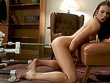 Tiffany Tyler Gets Satisfied By A Fucking Machine In A Study