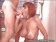 Busty Milf Is Eagerly Eating Cum After Having Sex With Her Lover