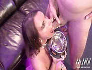 German Gangbang Slut Collects Cumshots
