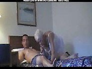 Sexy Blonde Granny Sucking & Riding Young Cock