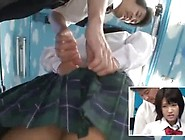 Dirty Japanese School Girl Is Taking A Bus Ride With A Pervert W