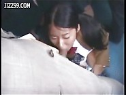 Schoolgirl Fucked In Mouth By Geek On Bus