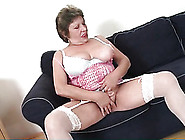 Granny In Stockings Shares Her Big Tits