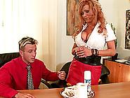 Redhead Pornstar With Big Tits In A Miniskirt Getting Screwed Ha