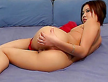 Sheer Red Lingerie Is So Pretty On The Sweet Asian Girl