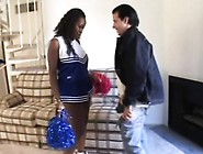 Young Ebony Cheerleader Drops Her Pompoms And Her Knickers To Su