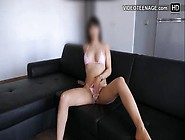 Booty Ten Brunette Does First Nude Casting