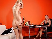 Sexy Bridget Shows Her Amazing Body To Silvia Saint