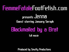 Blackmailed By A Brat. Flv