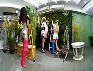 2 Girls With Long Cast Leg Visit A Flower Store Part 2 - Vrpussy