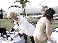 Blonde Milf Drilling Hard Brunette Slut With Strapon Outdoor