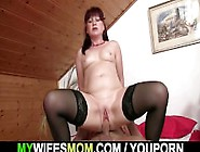 Lusty Mom Rides Her Son In Law Cock