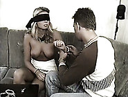 Magnificent White Blonde Babe Blindfolded And Licked