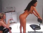 Dominatrix Strips And Spanks Her Slave