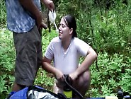 Busty Boobiekat Great Outdoor Wet T-Shirt & Blowjob