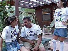 A Group Of Camp Counselors Has A Little Group Sex In A Cabin