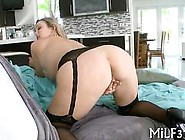 Busty Blonde Slut In Stockings Teases Before Getting Her Pussy F