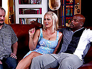 A Guy Watches As His Hot White Wife Enjoys Some Huge Black Cock