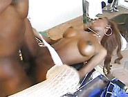 Hot Ebony Nurse Black Cat Fucked And Showered In Jizz