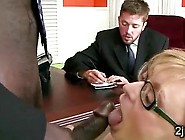 Beautiful Mature Blonde Sucks Off Her Sons Black Boss