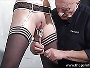 Teen Slave Taylor Hearts Nipple Clamp Punishment And Pussy