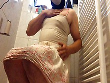 Sissy Poop Her Panties,  Smear Shit,  And Make Love With A Toilet