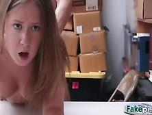 Shy Blonde Girl Giving Cute Handjob