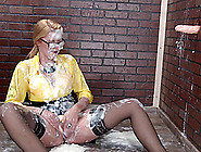 Cum-Drenched Izzy Delphine Happy After A Glory-Hole Face-Fucking