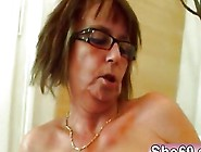 Horny Old Lady Wearing Stockings Gets Fucked Hard By Horny Young