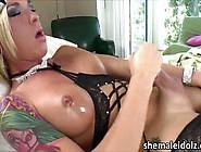 Tgirl Teen Aubrey Flicks Her Lovely Dick In Solo Mastur