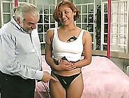 Redhead Bitch In Miniskirt Gets Spanked With A Paddle