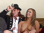 Vanilla With Natural Tits Gets Her Shaved Pussy Slammed Hardcore