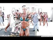 Kris Murrell Fbb Female Bodybuilder Pump Room