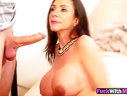 Busty Step Mom Caught Blowing Boyfriend Big Cock