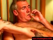 Tattooed And Hairy Bear Enjoy Gay Porn