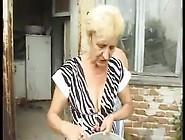 Skinny Granny Double Fucked By Horny Peasants