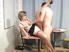 русское порно с учительнецой