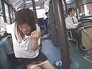 Japanese Schoolgirl Bus Grope & Facials 1