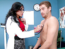 Appealing Brunette Cougar In Stockings Fucked By Her Patient