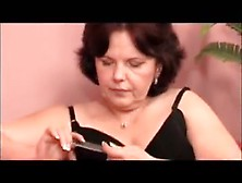 Granny In Nylons Gets Nailed